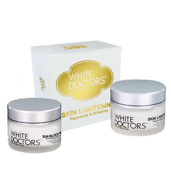 Bộ Đôi Dưỡng Trắng Da Mặt White Doctors - Skin Lightening & Sun Block Makeup