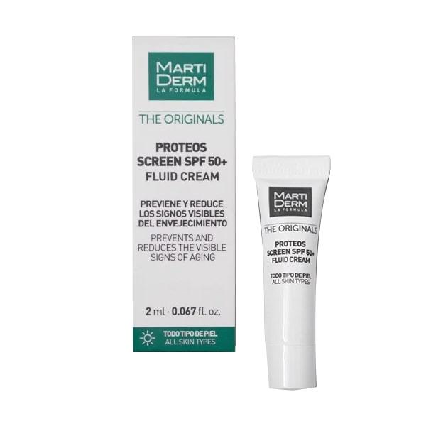 Kem chống nắng MartiDerm The Originals Proteos Screen SPF50+ Fluid Cream 2ml