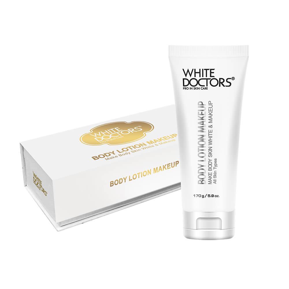 Kem dưỡng thể chống nắng trang điểm, trắng da White Doctors Body Lotion Makeup